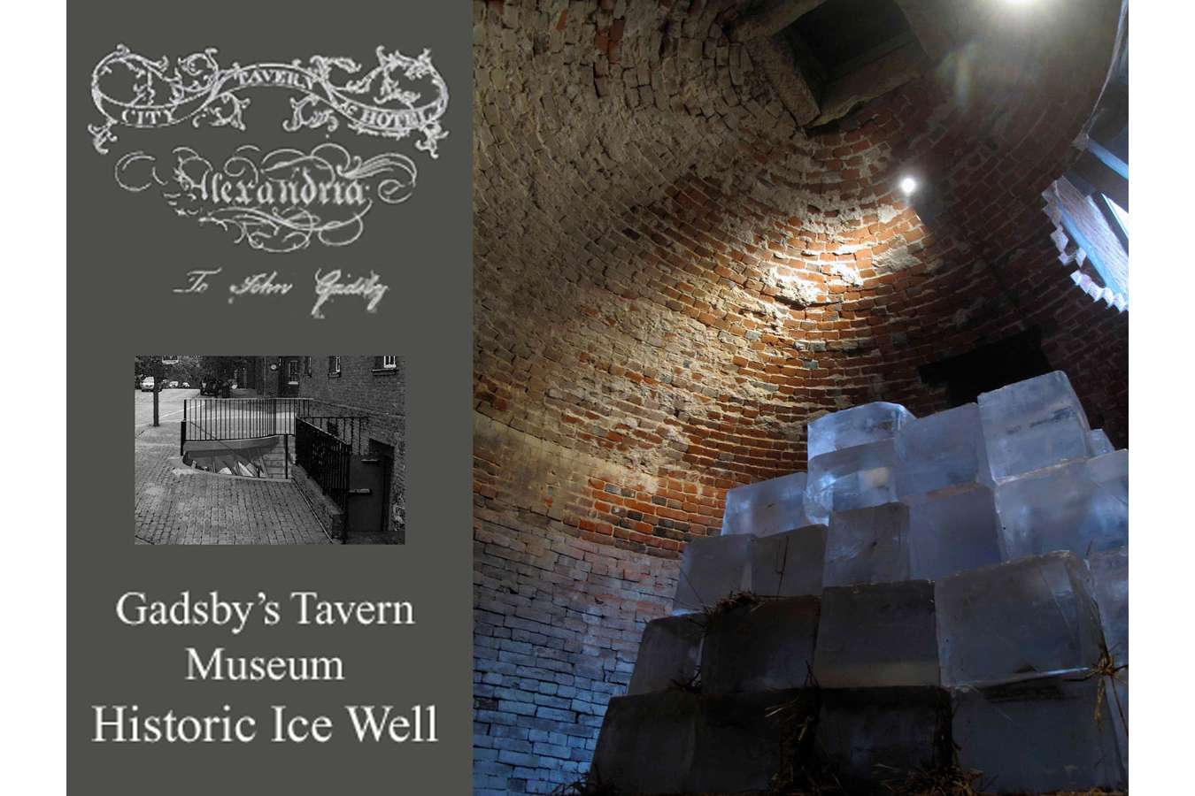 GADS Ice 1p : The Ice Well at Gadsby's Tavern – Loaded with ice for a promotional event