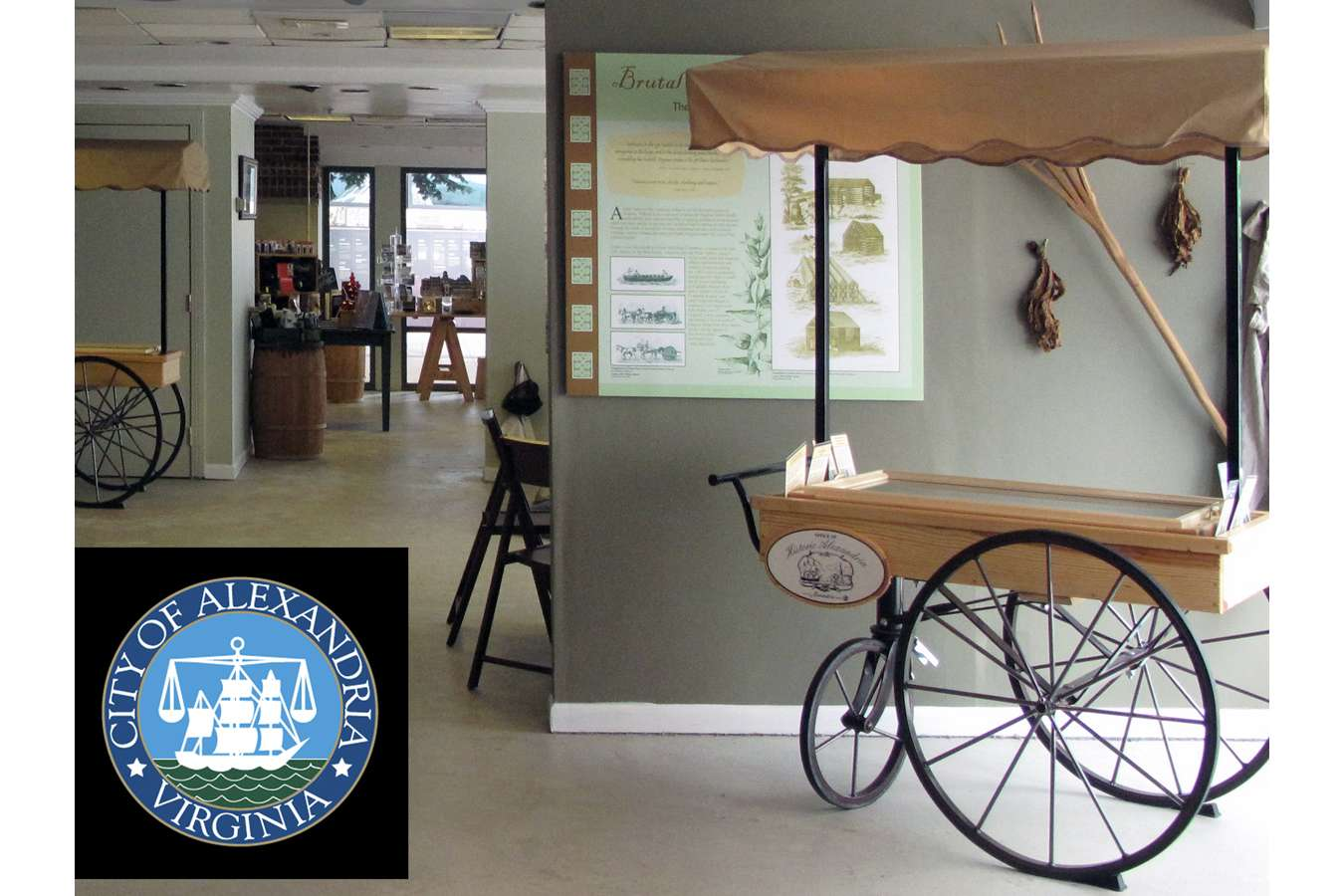OHACart 1P : Docent carts and display graphics at the OHA waterfront store