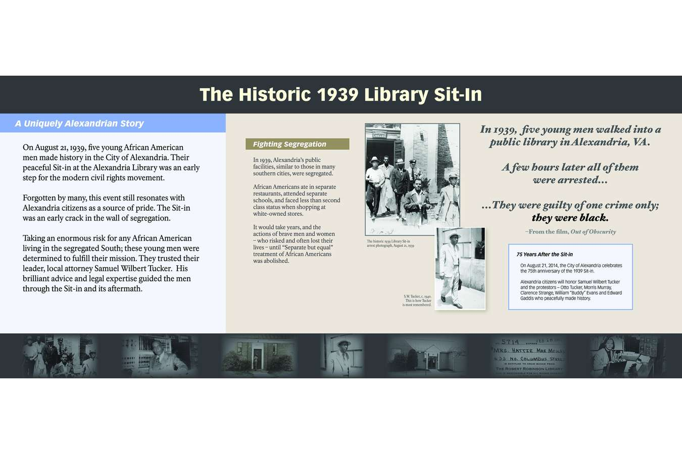 3 ABHM Sitin P1 : The Alexandria Library Sit-in was an early crack in the wall of segregation