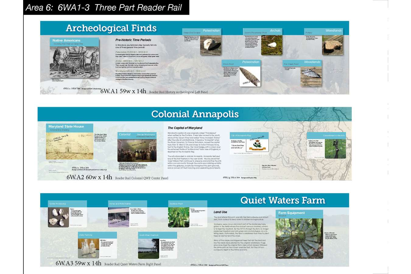 9 QWP MB Web 61 : History Reader Rail interprets Indigenous, Colonial and Modern Inhabitants of the Park's Land