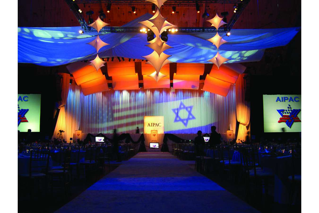 AIPA03 2a stage : The football-field sized DC Armory transformed for the AIPAC Event