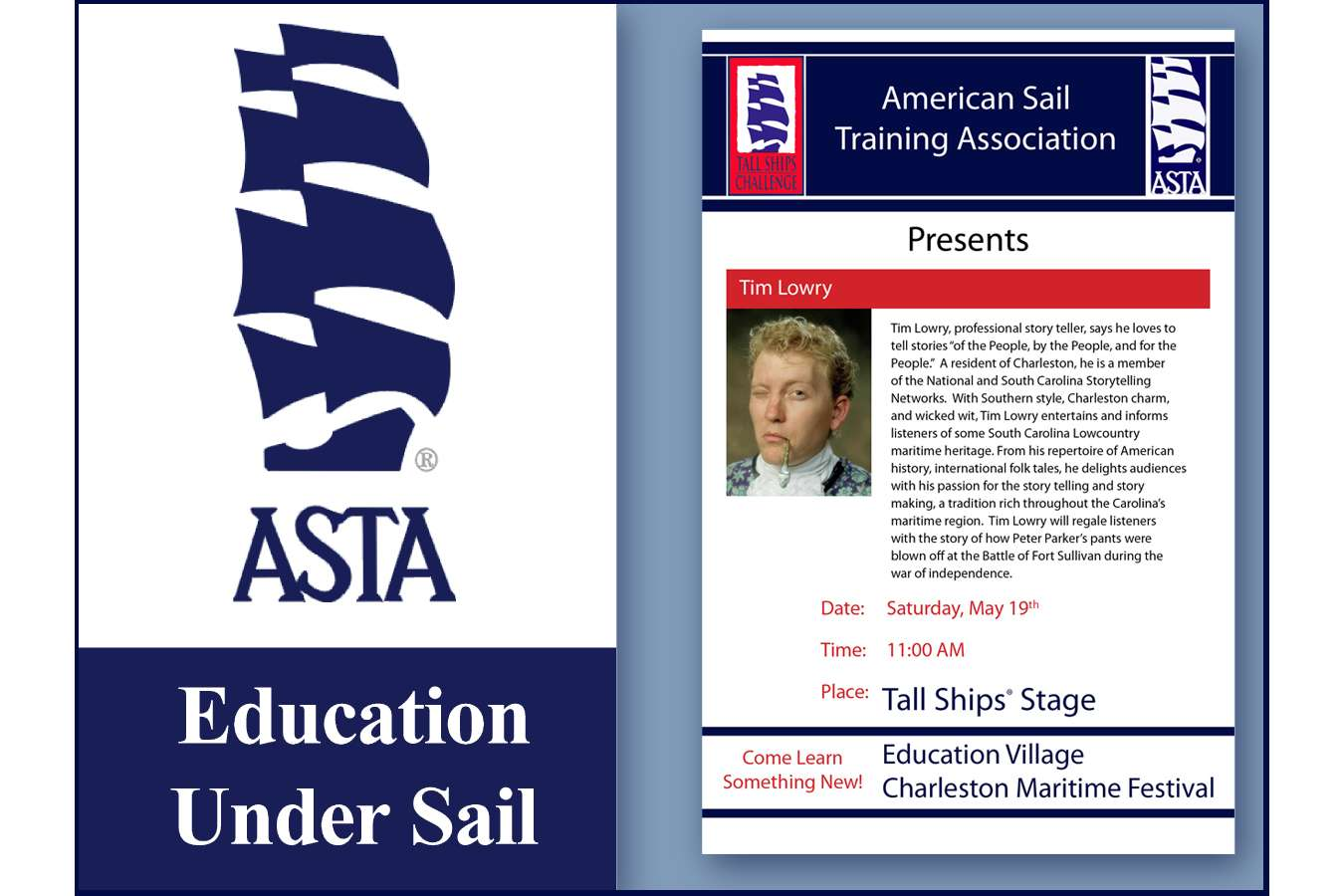 ASTA Event Posters : 3' x 5' flag banners and temporary easel mounted event performance signs