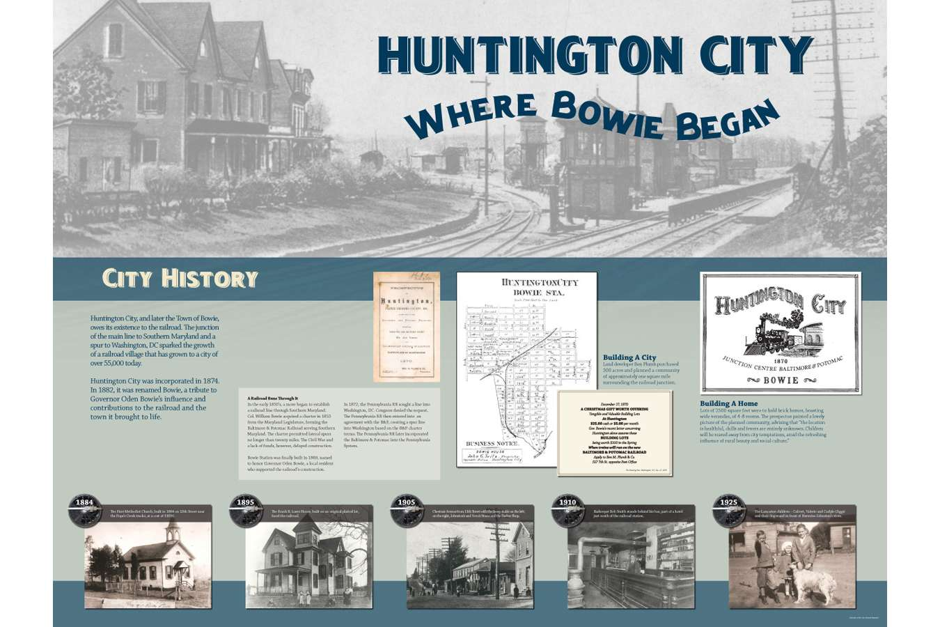 BOWTS gfx1 :  Huntington City – which became the Town of Bowie – owes it's existence to the railroad