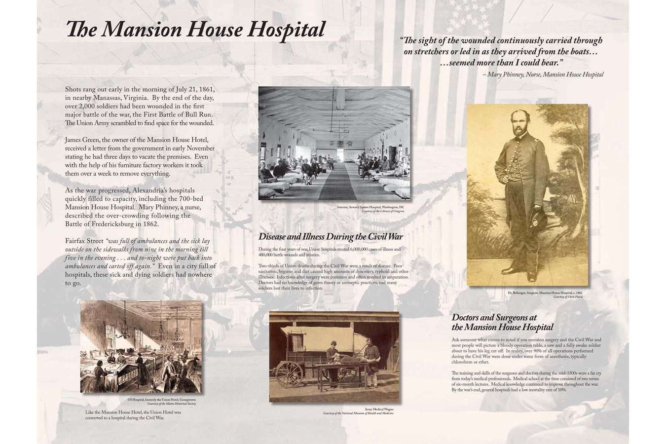 CARLY 3n : Mansion House Hotel was twice commandeered as a hospital for Union soldiers