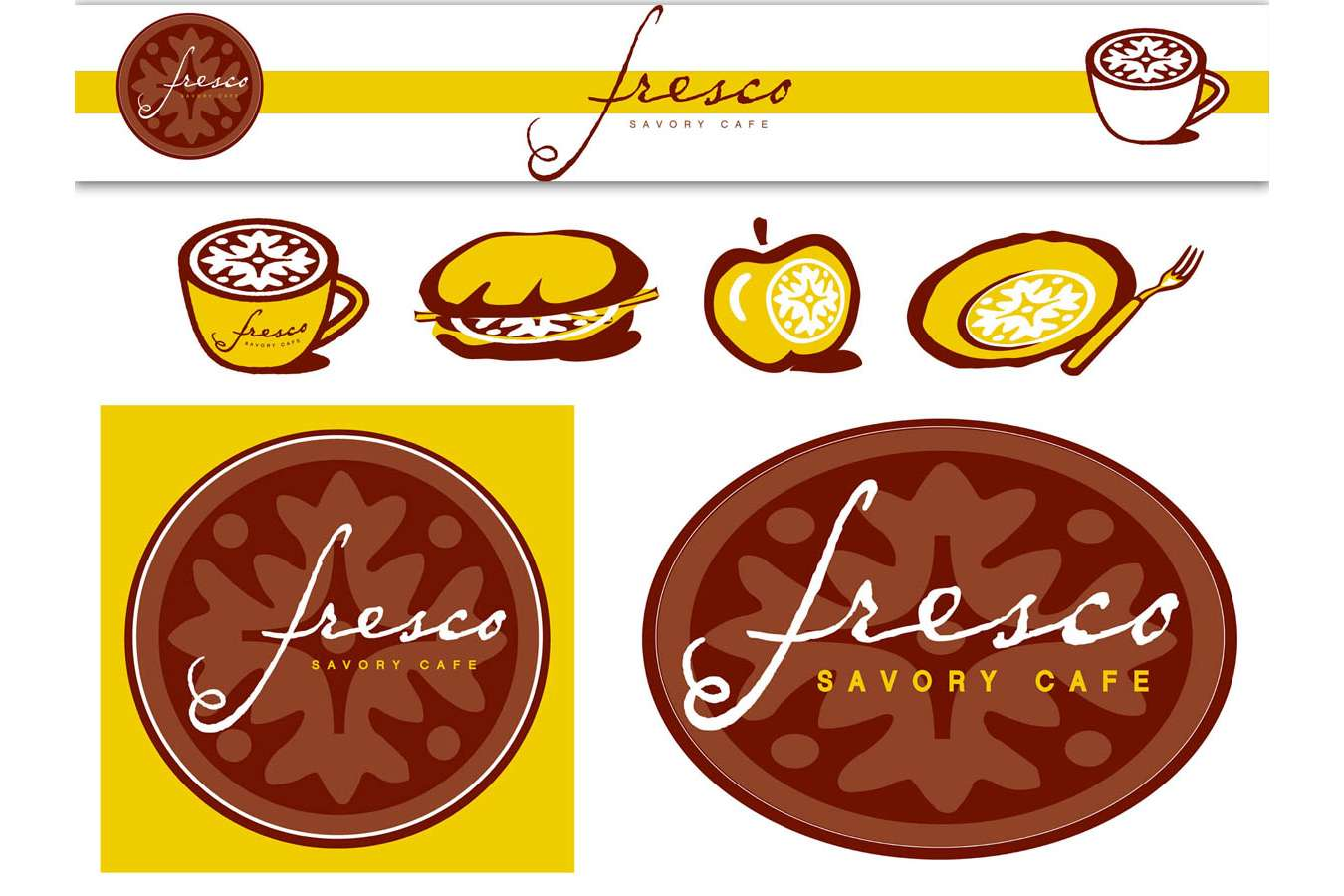 Fresco Logos : Branding developed for napkins, signage and menus