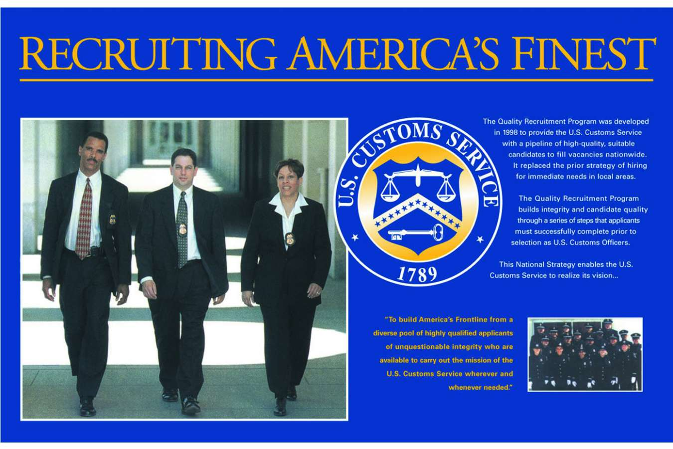 USCBP 1 head922 : Recruiting display poster