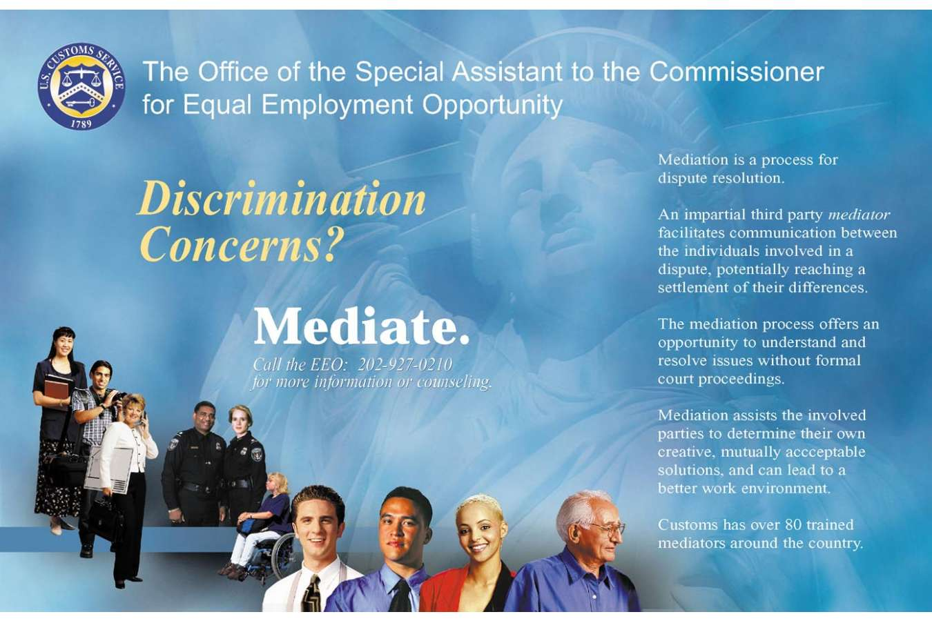 USCBP 5 PF1 EEO head : Equal Employment Opportunity header and display graphics