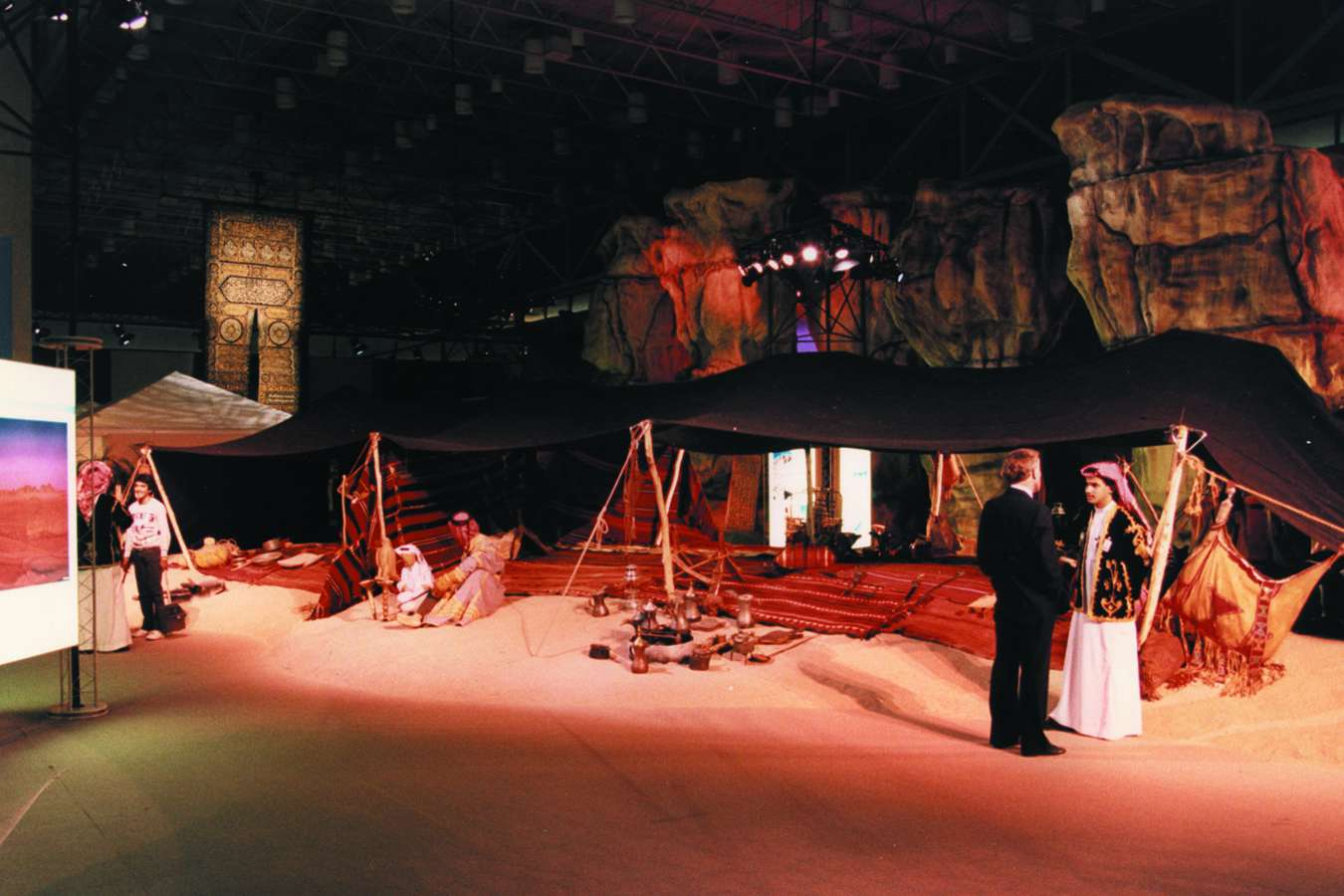 ksa01 : THE LAND: Bedouin Tent – Exhibitry Travelled in a Mile-Long Caravan (81 Trailers)